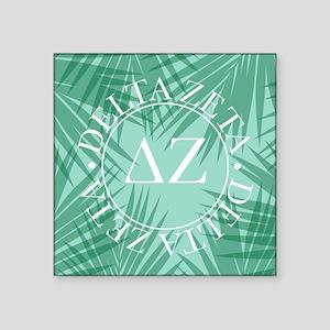 "Delta Zeta Leaves Square Sticker 3"" x 3"""
