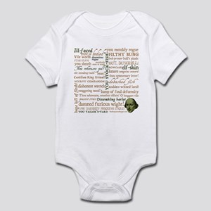 Shakespeare Insults Infant Bodysuit