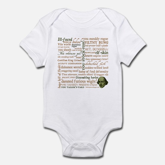 Shakespeare Insults Infant Bodysuit