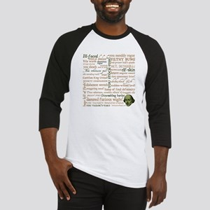 Shakespeare Insults Baseball Jersey