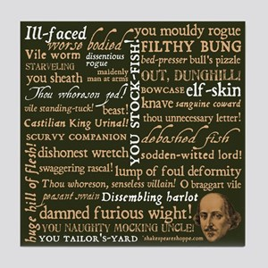Shakespeare Insults Tile Coaster