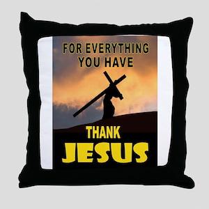 THANK YOU JESUS Throw Pillow