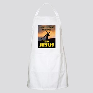 THANK YOU JESUS Light Apron