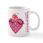 Flaming Heart Mug