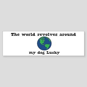 World Revolves Around Lucky Bumper Sticker