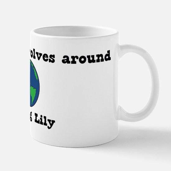 World Revolves Around Lily Mug