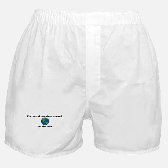 World Revolves Around Lily Boxer Shorts