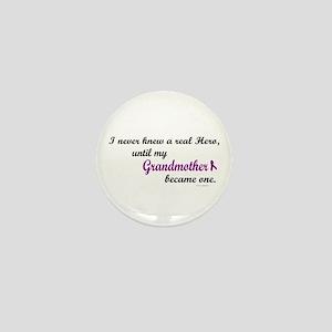 Never Knew A Hero GRANDMOTHER (Purple) Mini Button
