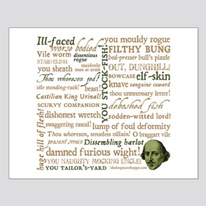 Shakespeare Insults Small Poster