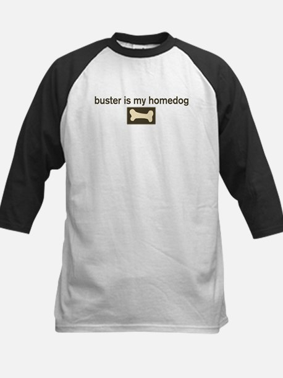 Buster is my homedog Kids Baseball Jersey