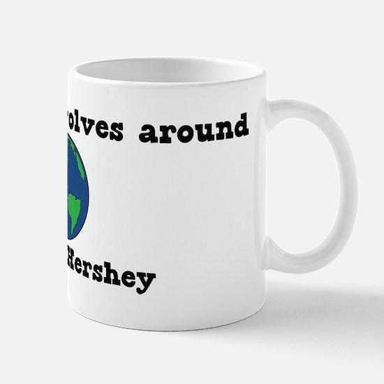 World Revolves Around Hershey Mug