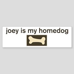 Joey is my homedog Bumper Sticker