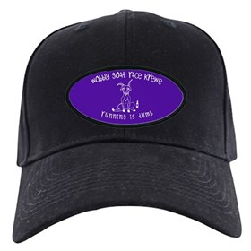 wobbly goat race krewe Black Cap with Patch