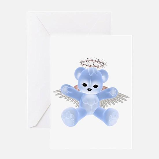 BLUE ANGEL BEAR Greeting Card