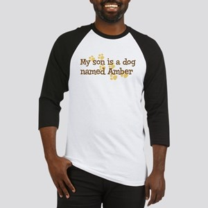 Son named Amber Baseball Jersey