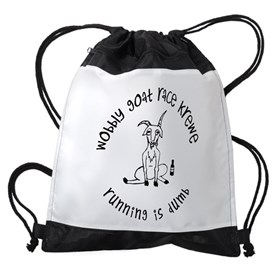 wobbly goat race krewe Drawstring Bag
