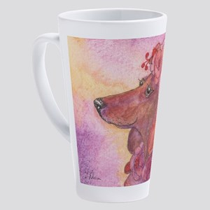 Aloha - Dachshund wearing lei 17 oz Latte Mug