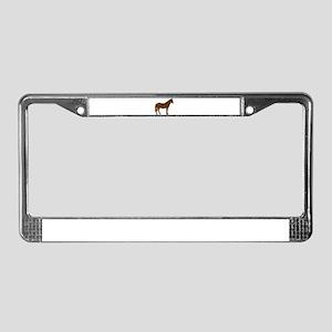 Brown Horse License Plate Frame