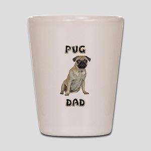 FIN-pug-dad-WonB Shot Glass