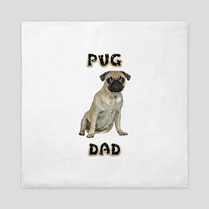 FIN-pug-dad-WonB Queen Duvet
