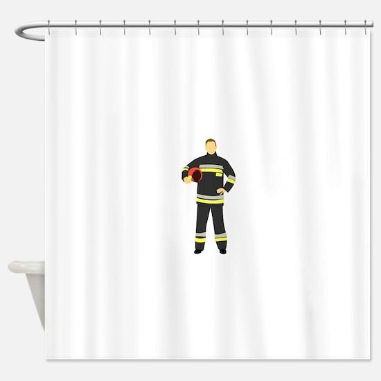 Fire Man Shower Curtain