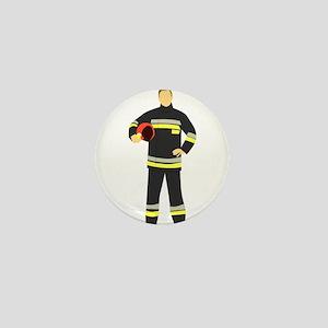 Fire Man Mini Button