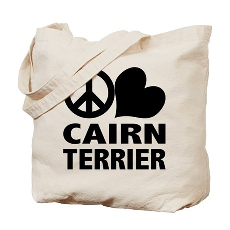 Peace Love Cairn Terrier Tote Bag