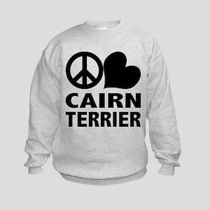Peace Love Cairn Terrier Kids Sweatshirt