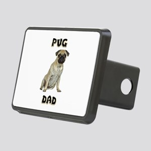 Pug Dad Rectangular Hitch Cover