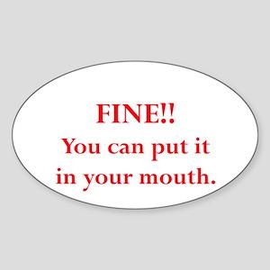 Oral pleasure Oval Sticker