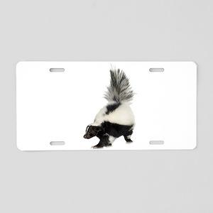 Skunk Aluminum License Plate
