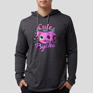 Cute but Psycho , Cute Cat , C Long Sleeve T-Shirt