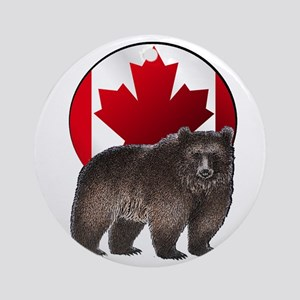 CANADIAN PROUD Round Ornament