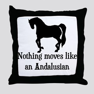 Moves Like An Andalusian Throw Pillow