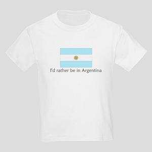 I'd rather be in Argentina Kids Light T-Shirt