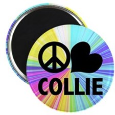 Peace Love Collie Magnet