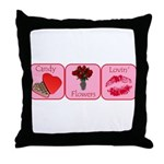 Candy, Flowers, Lovin Throw Pillow