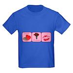 Candy, Flowers, Lovin Kids Dark T-Shirt