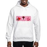 Candy, Flowers, Lovin Hooded Sweatshirt