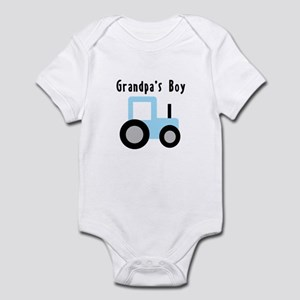 Grandpa's Boy Baby Blue Tract Infant Bodysuit