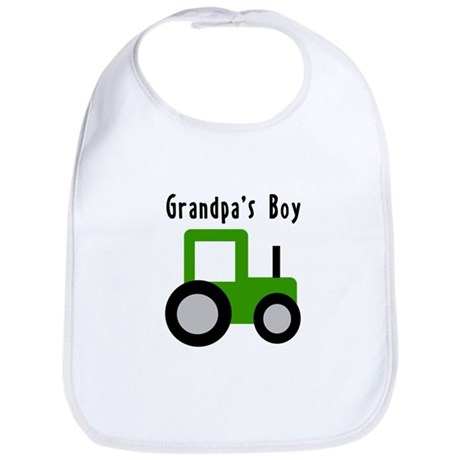 Grandpa's Boy Green Tractor Bib