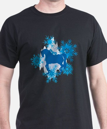 Andalusian Snowflakes Holiday T-Shirt