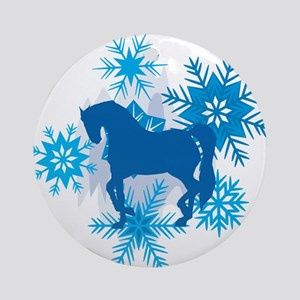 Andalusian Snowflakes Holiday Ornament (Round)