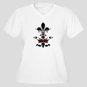 Valentine Crown Women's Plus Size V-Neck T-Shirt