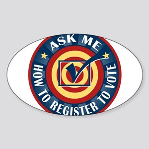Ask me how to register to Vote Sticker