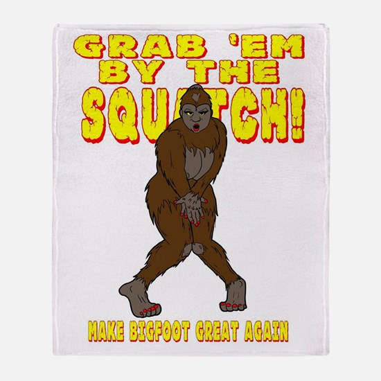 Cute Squatching Throw Blanket