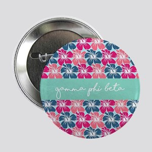 """Gamma Phi Beta Flowers 2.25"""" Button (10 pack)"""