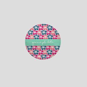 Gamma Phi Beta Flowers Mini Button