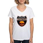 CUSTOM MOTORCYCLES Women's V-Neck T-Shirt