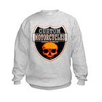CUSTOM MOTORCYCLES Kids Sweatshirt
